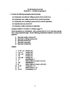 Answers to homework 2