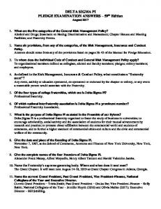 Answers to Pledge Manual Questions