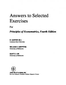 Answers to Selected Exercises