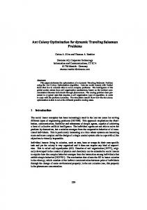 Ant Colony Optimization for dynamic Traveling Salesman Problems