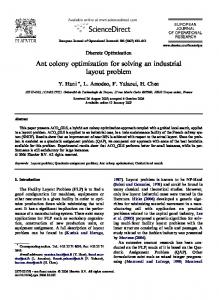 Ant colony optimization for solving an industrial layout problem