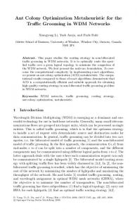 Ant Colony Optimization Metaheuristic for the Traffic ... - Springer Link