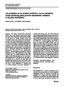 Ant predation on an invasive herbivore: can an ... - Springer Link