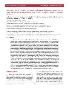 Antagonists of growth hormone-releasing hormone ... - BioMedSearch