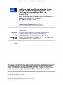 antagonists rheumatic diseases treated with TNF ... - Biobadaser