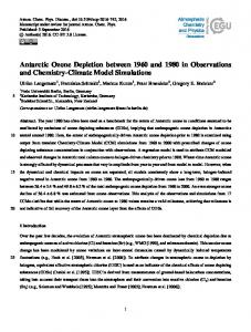 Antarctic Ozone Depletion between 1960 and 1980 in Observations ...