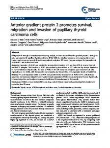 Anterior gradient protein 2 promotes survival ... - BioMedSearch