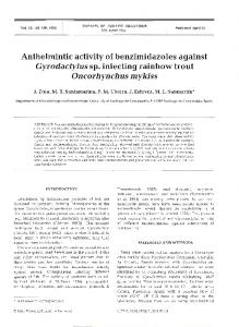 Anthelmintic activity of benzimidazoles against ... - Inter Research