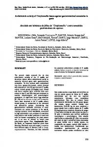 Anthelmintic activity of Cratyliamollis leaves against gastrointestinal ...