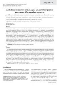 Anthelmintic activity of Leucaena leucocephala ... - Semantic Scholar