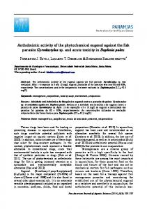 Anthelmintic activity of the phytochemical eugenol ... - PanamJAS