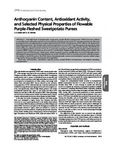Anthocyanin Content, Antioxidant Activity, and ... - Semantic Scholar