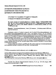 anthranoylhydrazones of aliphatic aldehydes and their ... - Springer Link