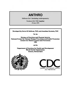 anthro - Centers for Disease Control and Prevention
