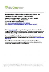 Anthropogenic Burning, Agricultural Intensification ... - OIT Web Services