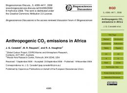 Anthropogenic CO2 emissions in Africa