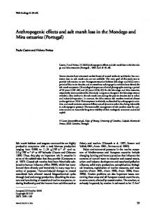 Anthropogenic effects and salt marsh loss in the Mondego ... - Recent