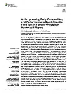 Anthropometry, Body Composition, and