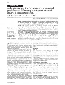 Anthropometry, physical performance, and ultrasound ... - Europe PMC