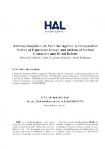 Anthropomorphism of Artificial Agents - Hal