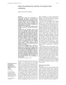 Anti-Acanthamoeba activity of contact lens solutions - PubMed Central ...
