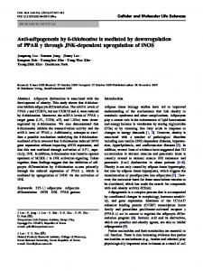 Anti-adipogenesis by 6-thioinosine is mediated by ... - Springer Link