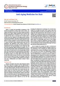 Anti-Aging Medicine for Hair - Juniper Publishers