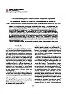 Anti-Helicobacter pylori Compounds from ... - KoreaMed Synapse