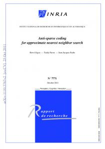 Anti-sparse coding for approximate nearest neighbor search