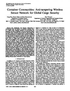 Anti-Tampering Wireless Sensor Network for Global Cargo Security