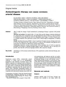 Antiandrogenic therapy can cause coronary ... - Wiley Online Library