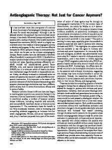 Antiangiogenic therapy - Wiley Online Library