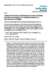 Antibacterial Activity and Mechanism of Action of