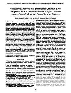 Antibacterial Activity of a Synthesized Chitosan-Silver ...