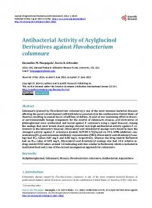 Antibacterial Activity of Acylglucinol Derivatives against ... - CiteSeerX