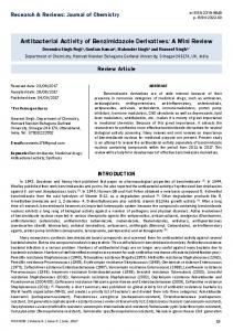 Antibacterial Activity of Benzimidazole Derivatives - Research and ...