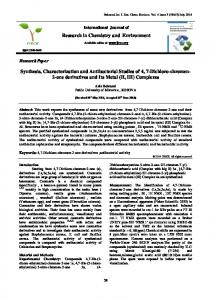 Antibacterial activity of coumarine derivatives synthesized from 4,7