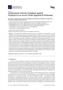 Antibacterial Activity of Juglone against ... - Semantic Scholar