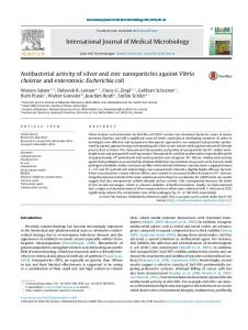 Antibacterial activity of silver and zinc nanoparticles ...