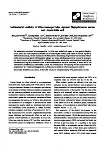 Antibacterial Activity of Silver-nanoparticles Against Staphylococcus ...