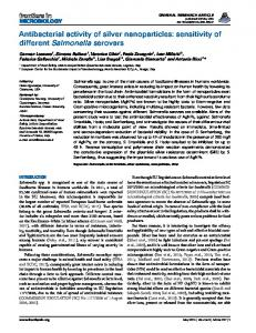 Antibacterial activity of silver nanoparticles: sensitivity ... - BioMedSearch
