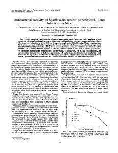 Antibacterial Activity of Sparfloxacin against ...