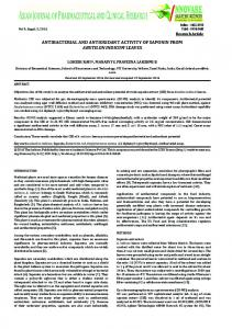antibacterial and antioxidant activity of saponin from