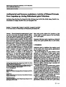 Antibacterial and immuno-modulatory activity of ethanol extracts from ...