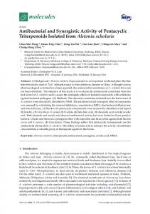 Antibacterial and Synergistic Activity of Pentacyclic ... - Semantic Scholar