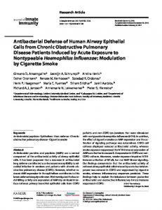 Antibacterial Defense of Human Airway Epithelial ... - Karger Publishers