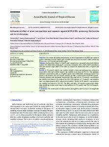 Antibacterial effect of silver nanoparticles and capsaicin against MDR ...