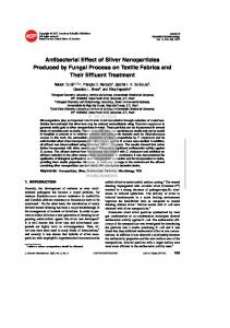 Antibacterial Effect of Silver Nanoparticles Produced by ... - CiteSeerX