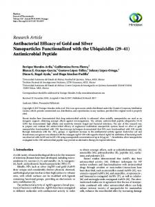 Antibacterial Efficacy of Gold and Silver Nanoparticles Functionalized ...