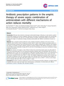 Antibiotic prescription patterns in the empiric